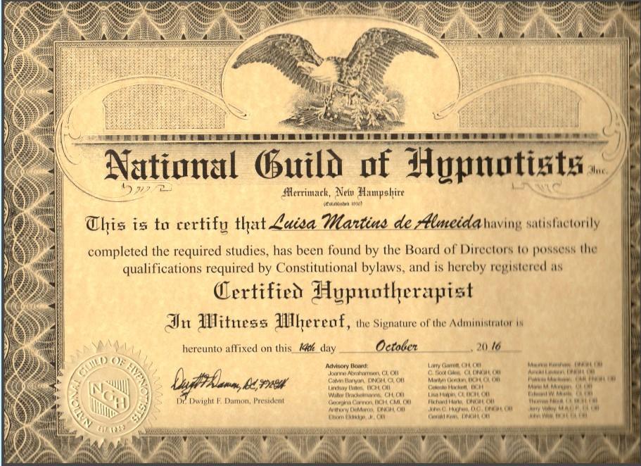 Luisa Martins Zertifikat